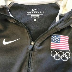 Nike Therma Fit Team USA Grey Sz Xlg Hoodie